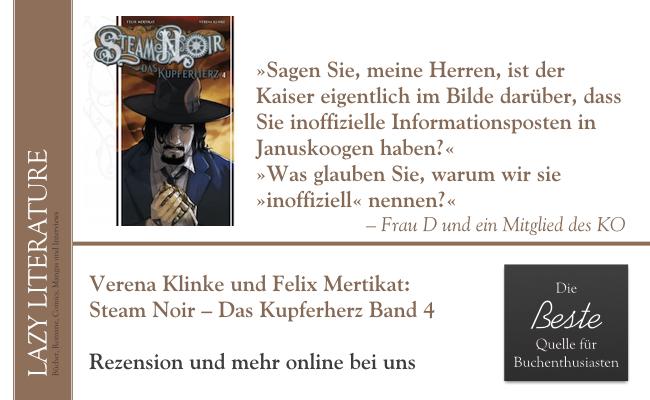 Verena Klinke / Felix Mertikat – Steam Noir - Das Kupferherz Band 4 - Zitat