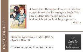 Honobu Yonezawa / TASKOHNA – Hyouka Band 8 Zitat