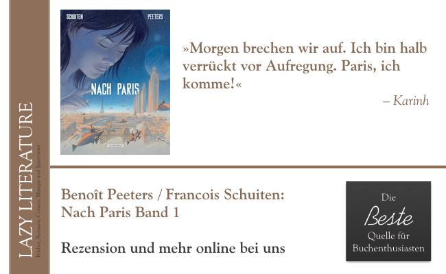 Benoît Peeters / François Schuiten – Nach Paris Band 1 Zitat