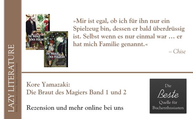 Kore Yamazaki – Die Braut des Magiers Band 1 und 2 Zitat
