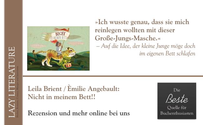Leila Brient / Emilie Angebault – Nicht in meinem Bett!! Zitat