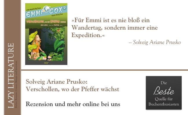 Solveig Ariane Prusko – Emmi Cox Band 3 – Verschwollen, wo der Pfeffer wächst Zitat