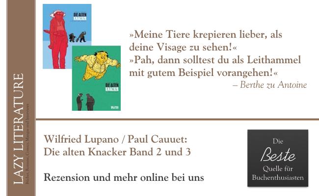 Wilfrid Lupano / Paul Cauuet – Die alten Knacker Band 2 und 3 Zitat