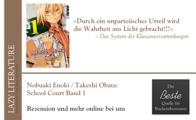 Nobuaki Enoki / Takeshi Obata – School Court Band 1 Zitat